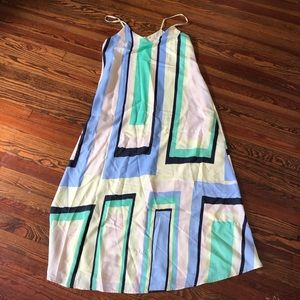 Maeve for Anthropologie color block maxi dress